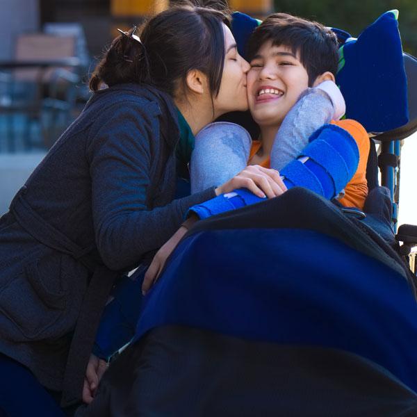 niño con discapacidad