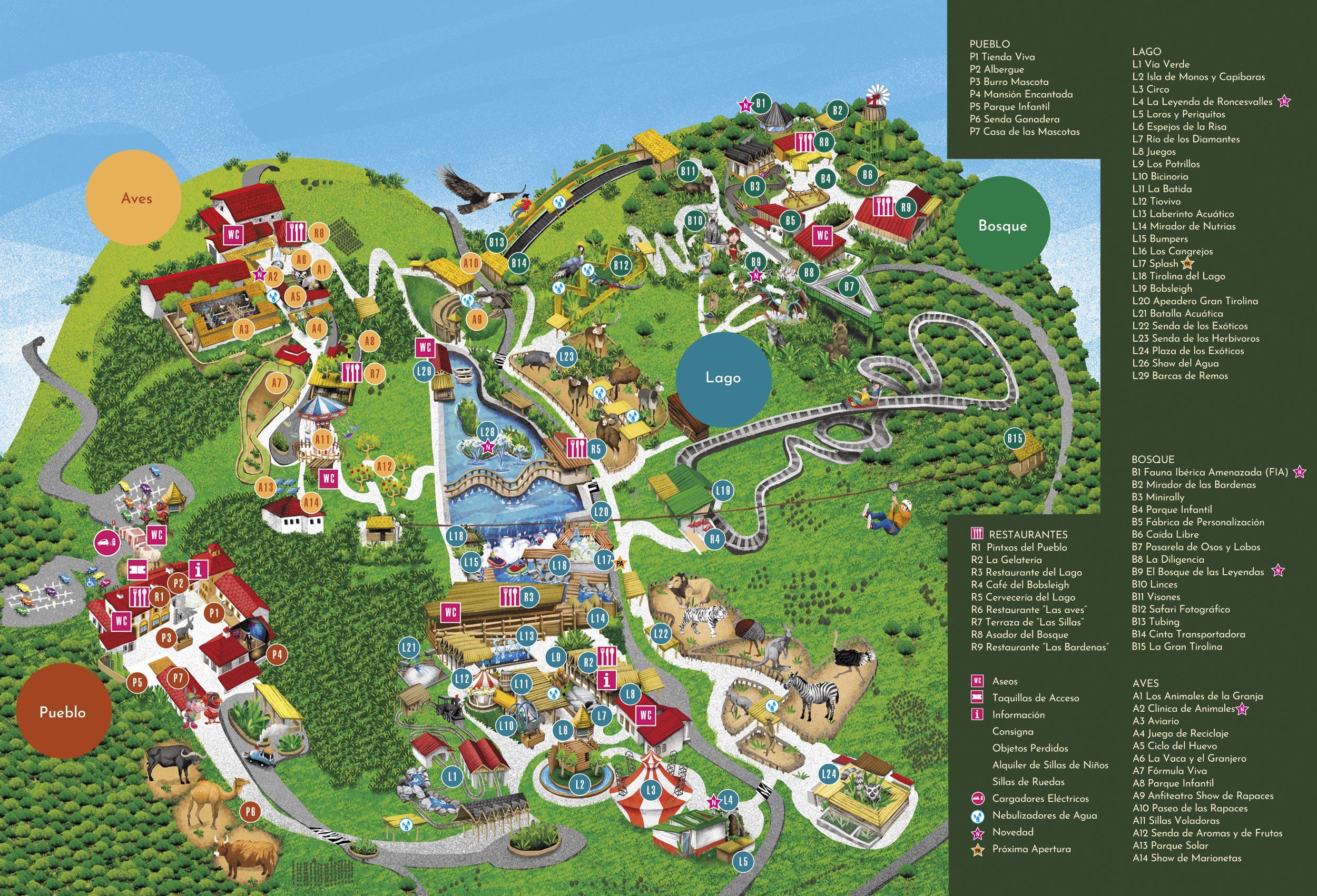 Mapa de Sendaviva con leyenda.